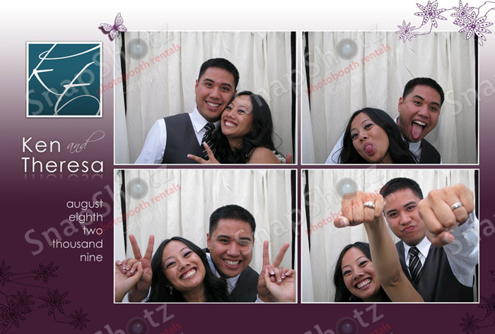 SnapShotz Photobooth Rentals Was Pleased To Be Part Of Ken And Theresas Beautiful Wedding Reception At The SmogShoppe In Los Angeles