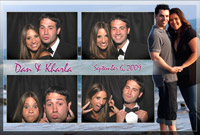 4x6 Engagement Style Left Photobooth Print Sample